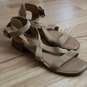 New - never been worn Franco Sarto Suede sandals!